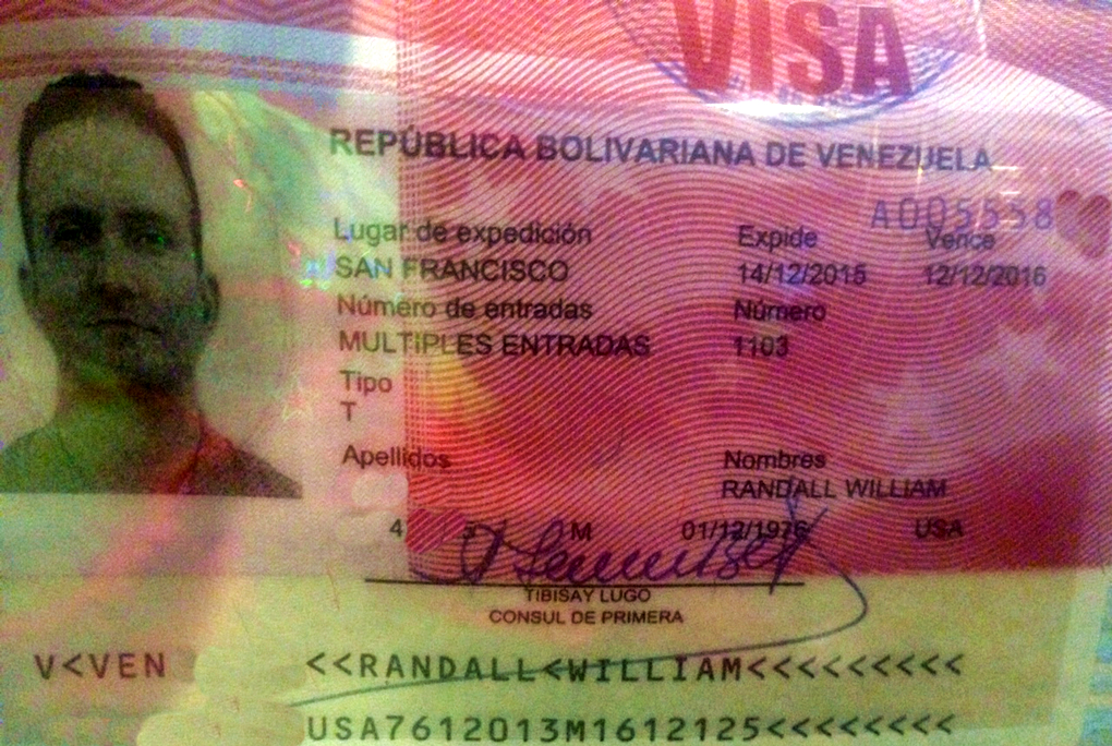 It's official! My Venezuelan visa!