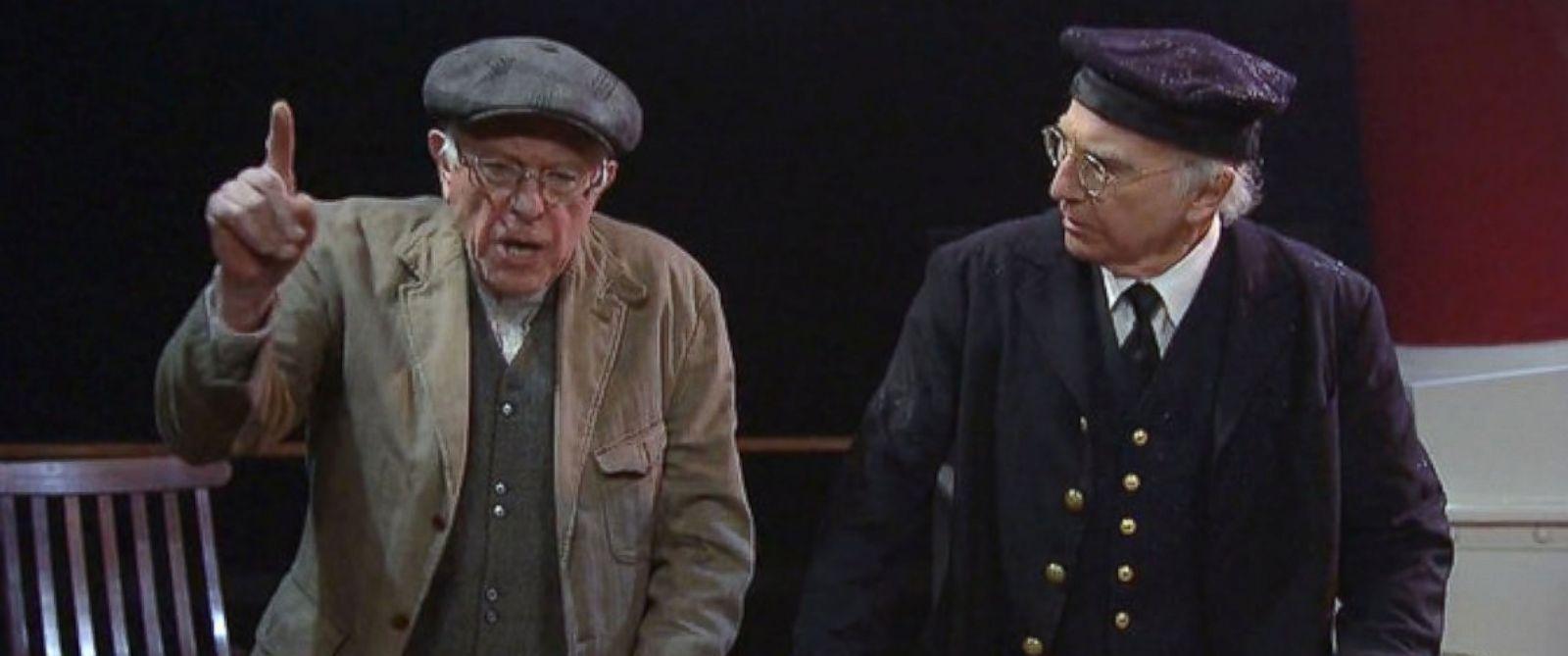 Bernie Sanders and Larry David (courtesy of abcnews.com)