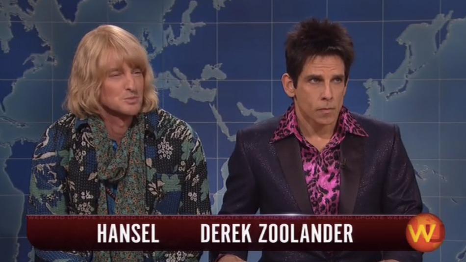Owen Wilson and Ben Stiller on Weekend Update (courtesy of Mashable)