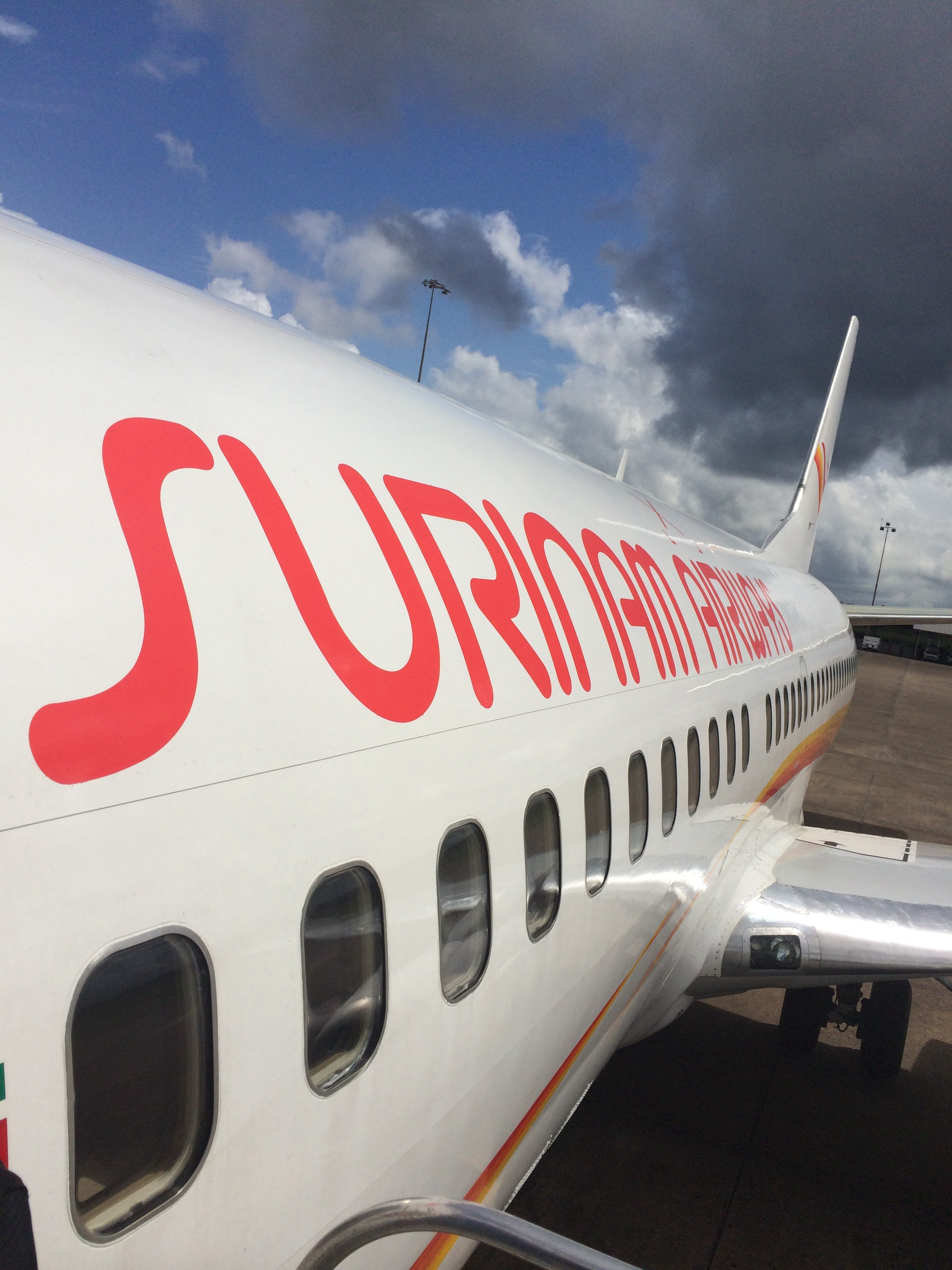 Arriving in Cayenne on Suriname Airways