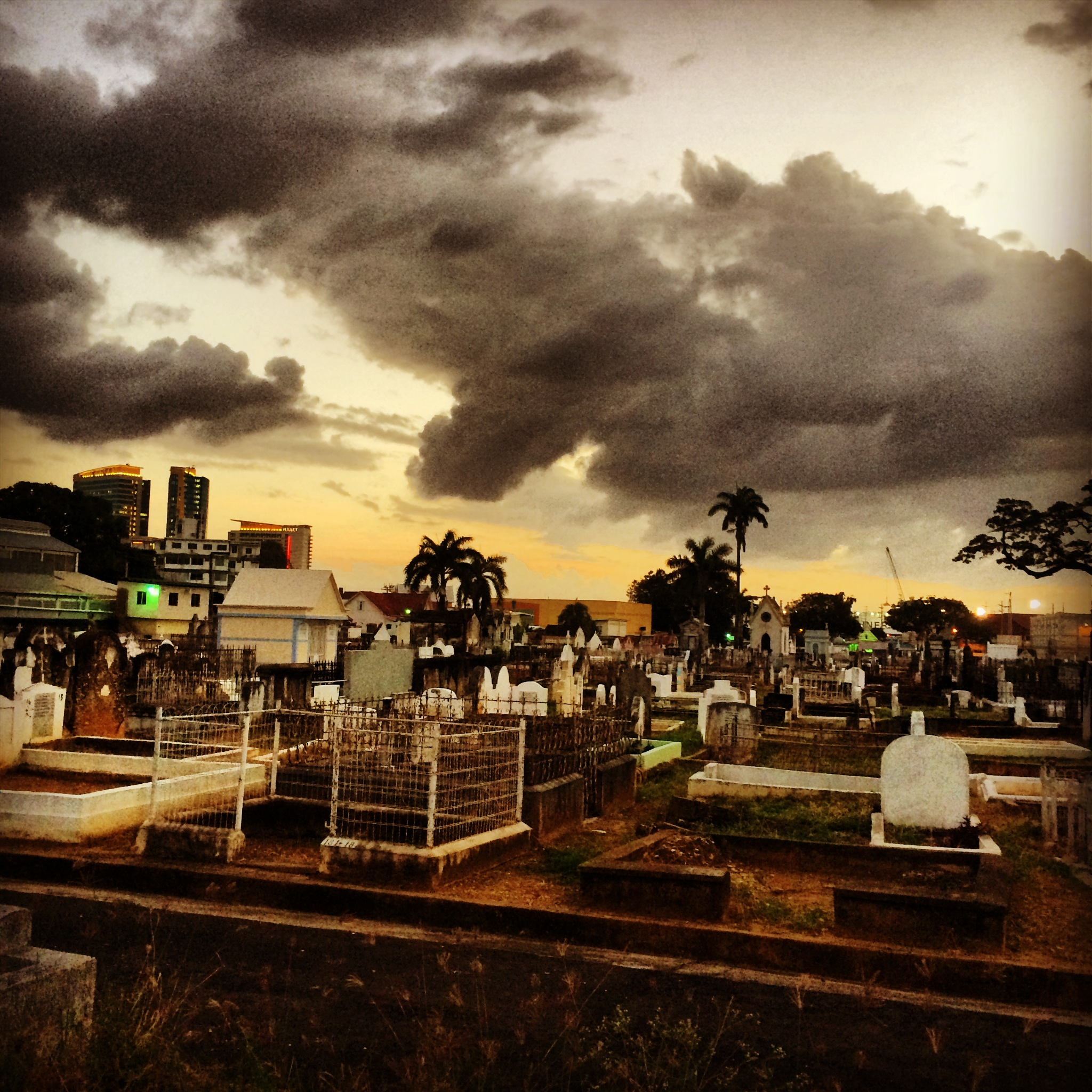 Creepy ass graveyard in Port of Spain