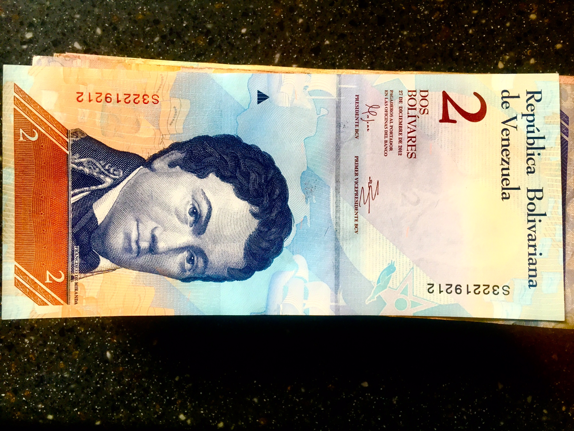 Venezuelan two-dollar bill