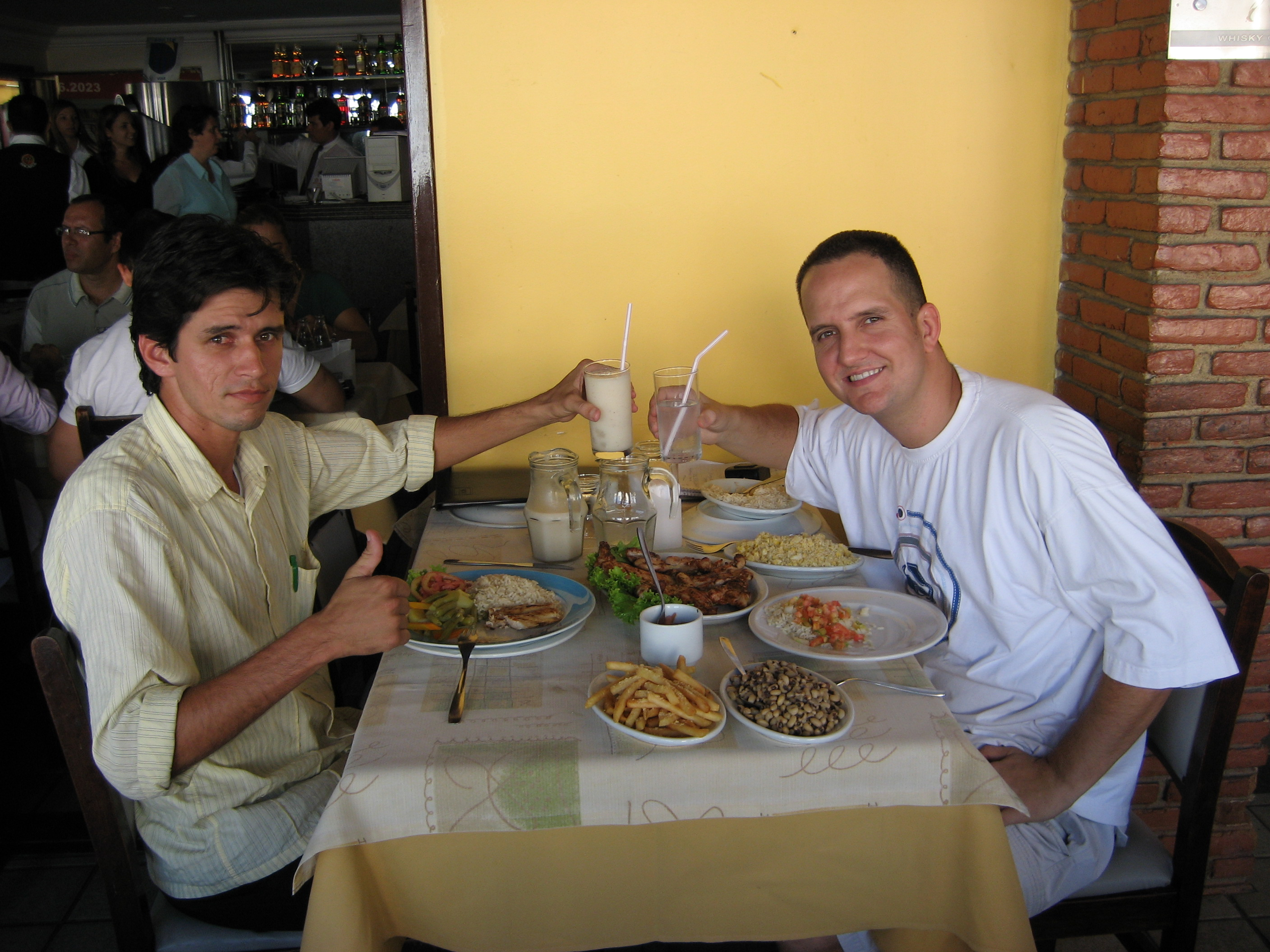 Celebratory lunch with my real estate agent, Leonardo, after finding my new place in Recife.